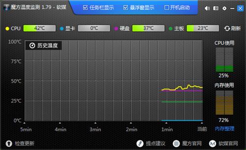 魔方温度检测软件截图1